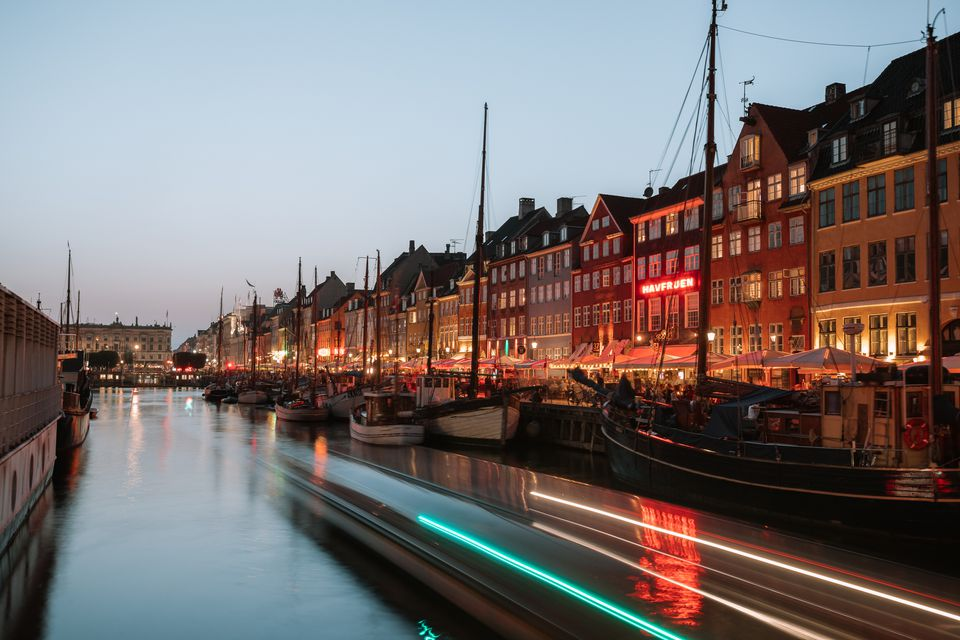 Nyhavn Harbor at night
