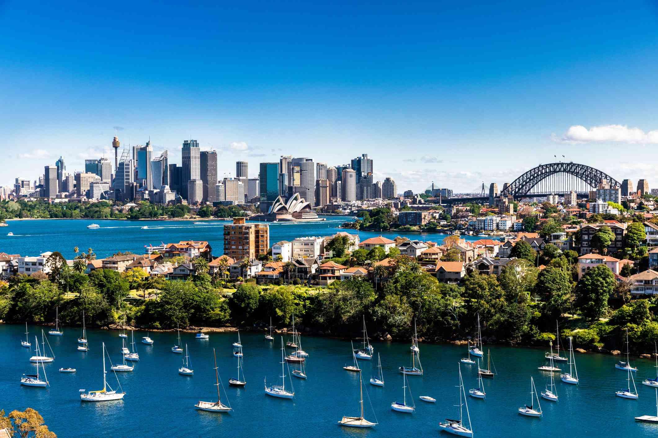 Sydney Harbour with views of the Harbour Bridge