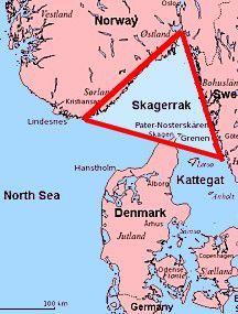 Skagerrak Map and Definition on