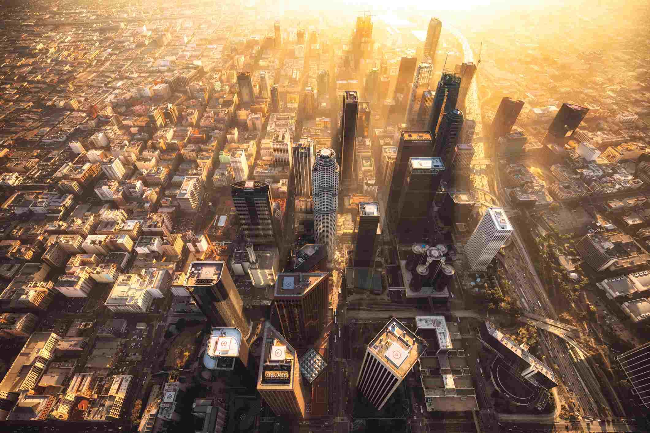 Aerial View of LA