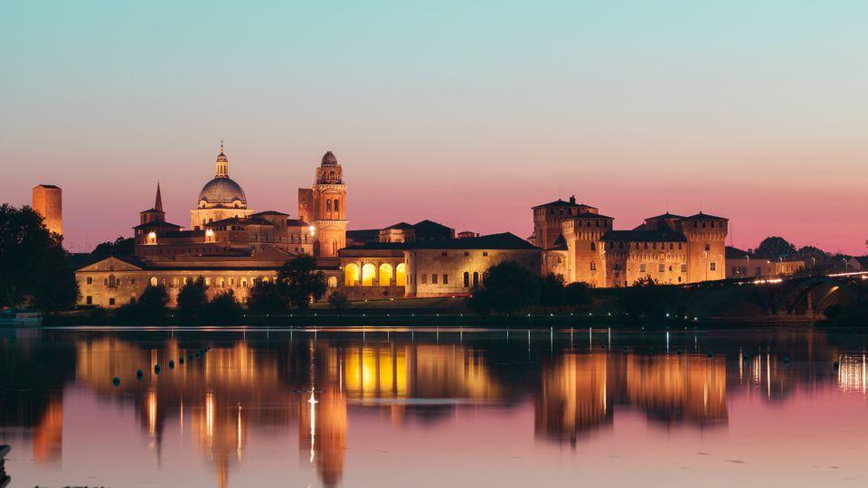 Mantua, Italy at twilight