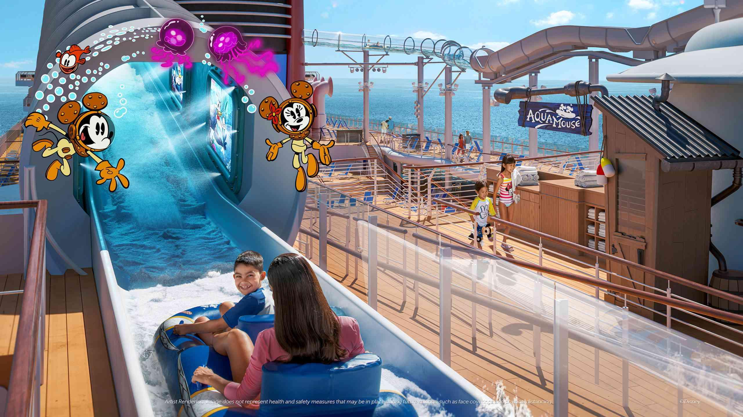 Disney Wish AquaMouse water coaster