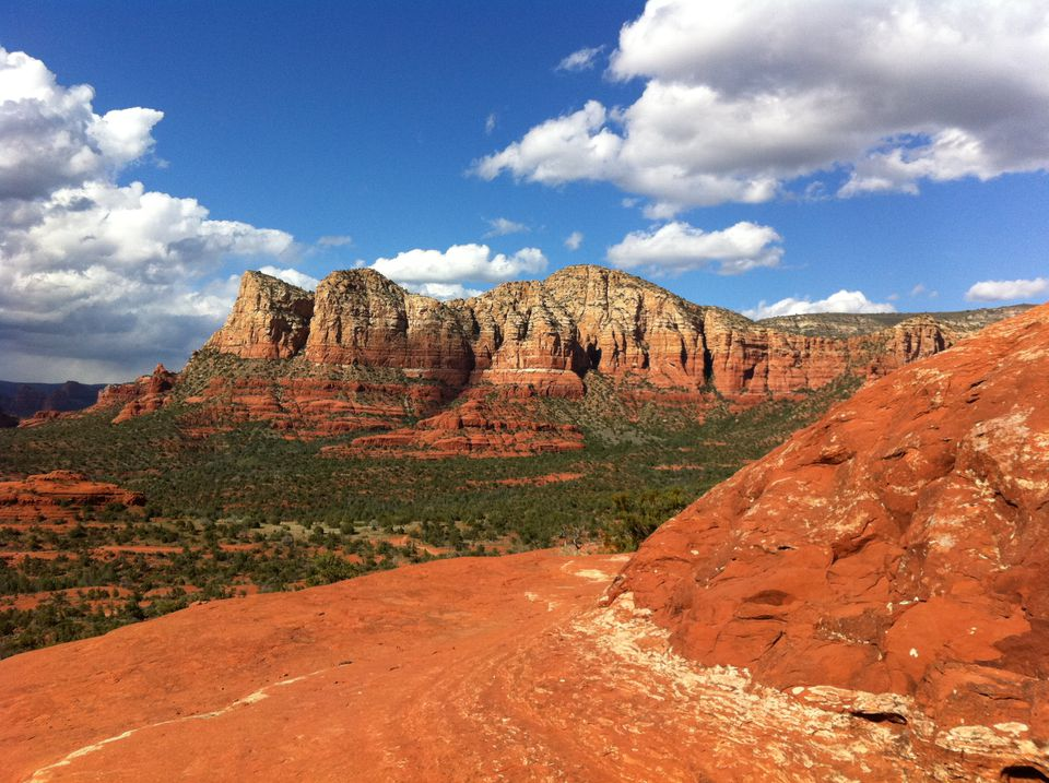 the view from Bell Rock in Sedona, Arizona