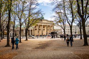Brandenburg Gate through the trees