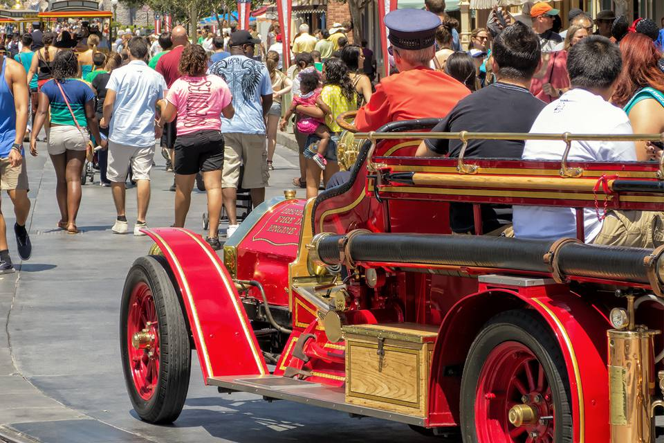 Using Disneyland Transportation on Main Street USA