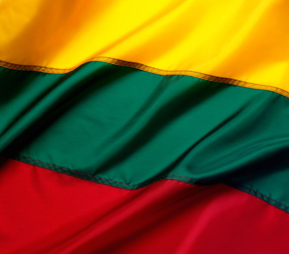 close up of Lithuanian flag