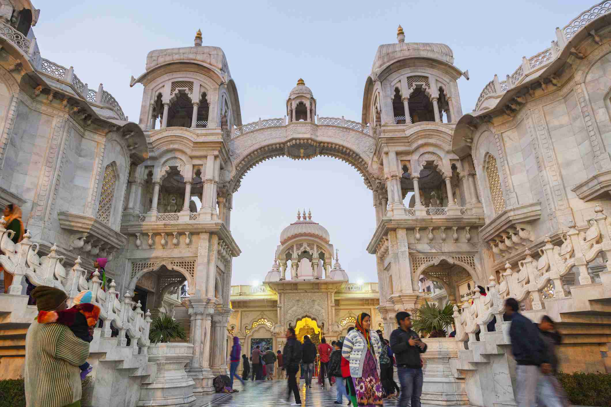 Sri Krishna-Balaram Mandir temple. Vrindavan, India