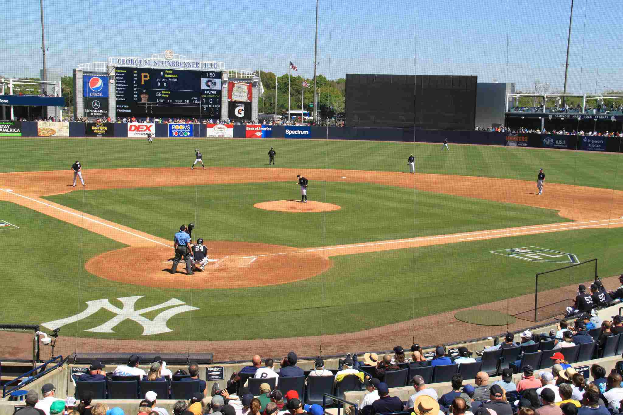 The New York Yankees spring training at George M. Steinbrenner Field in Tampa.