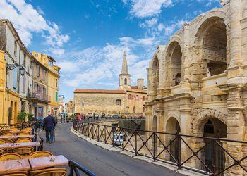 Arles, Provence, France. Roman amphitheatre.