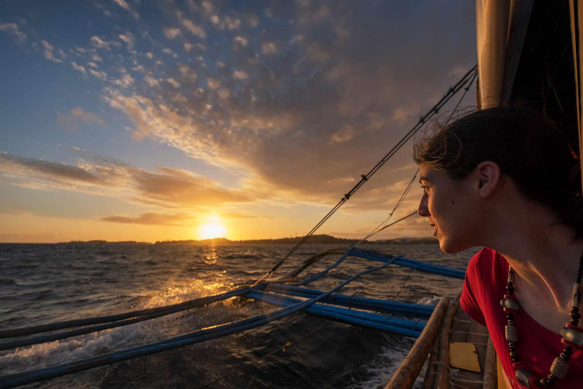 Boat ride to Boracay, Philippines