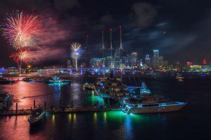 Miami New Years Eve Fireworks display