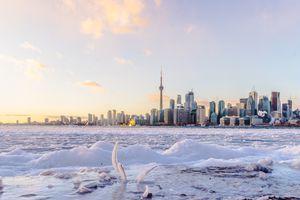 The Toronto skyline on a winter day