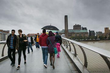 London walking tour on Millennium Bridge