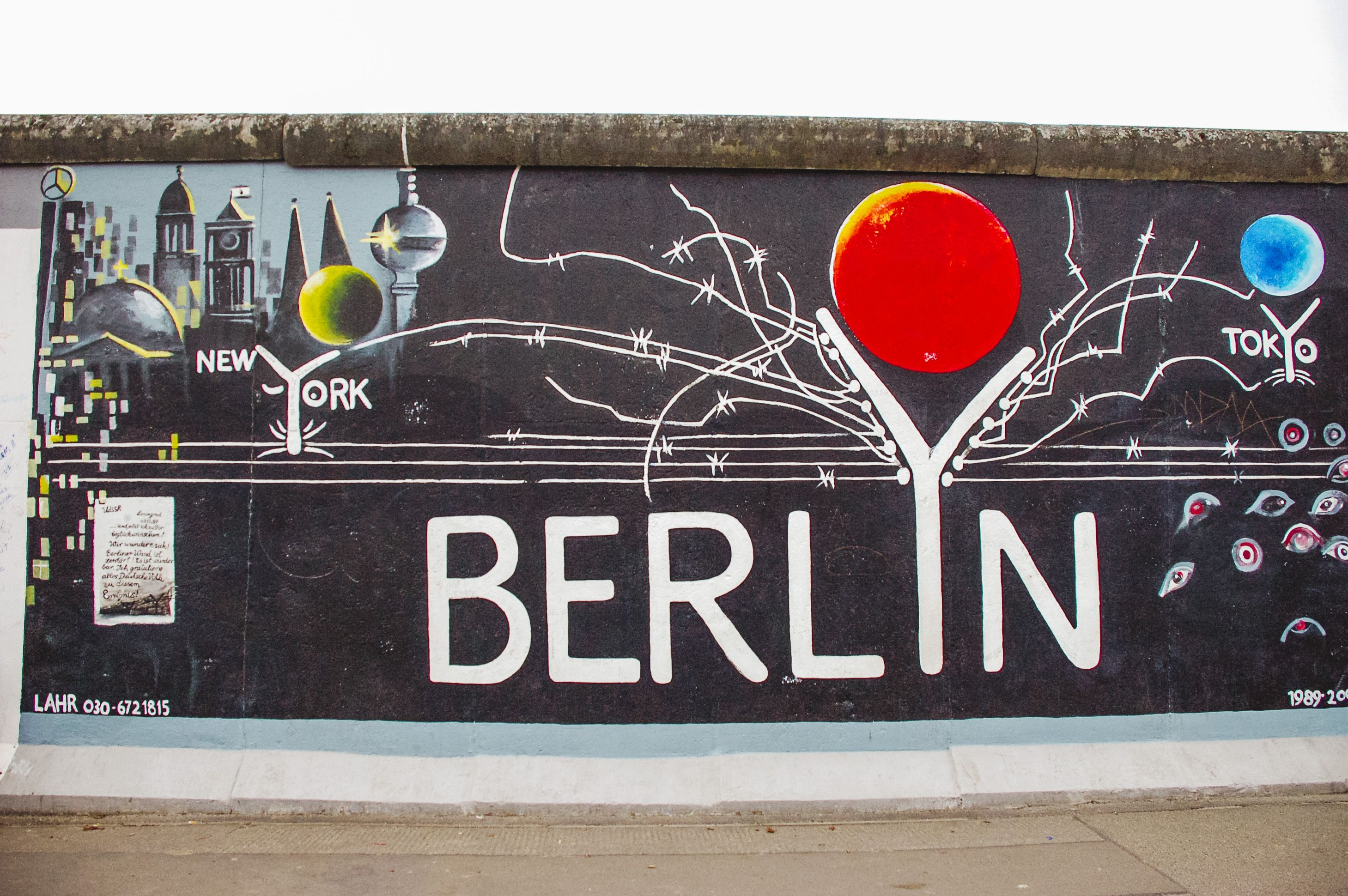 A mural in the east side gallery