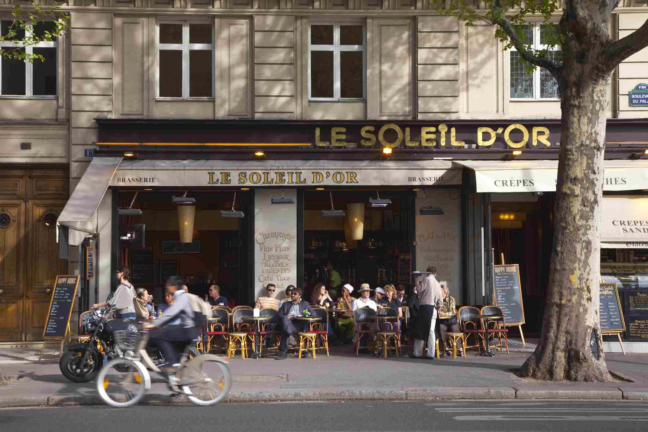 Francia, París, Bistro en Ile de la Cite