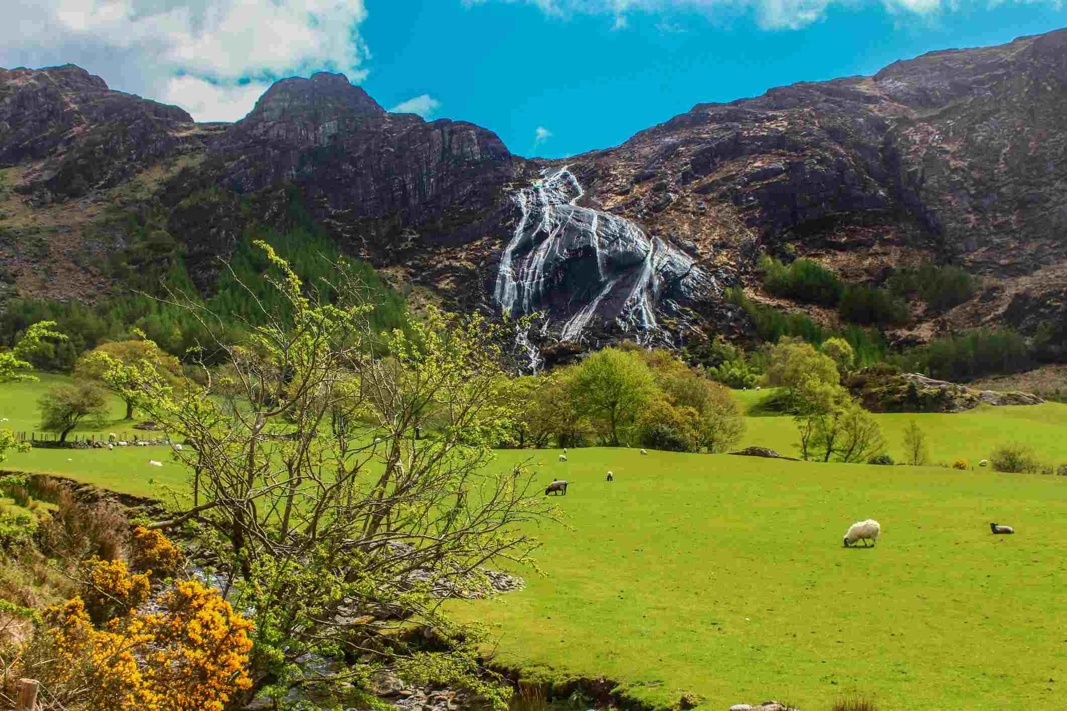 veil waterfall in ireland