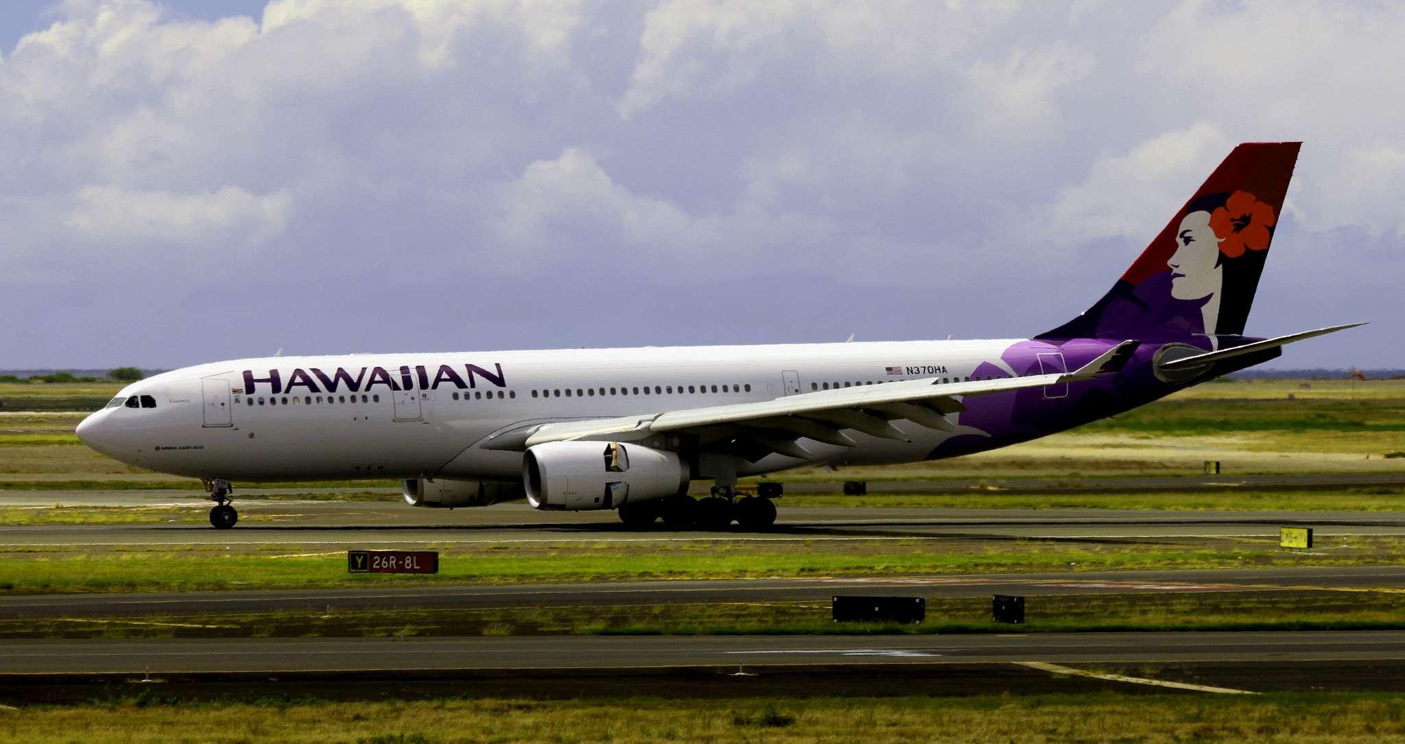 Hawaiian Airlines plane on tarmac