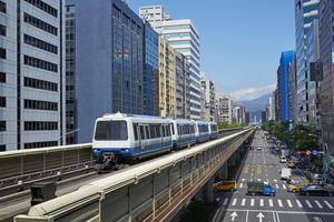 Elevated view of Taipei's Wenhu Line