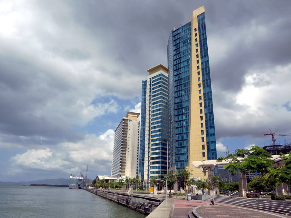 The Hyatt Regency in Trinidad on a cloudy day