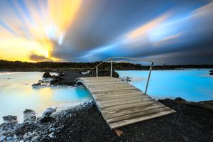 Blue lagoon geothermal spa Iceland
