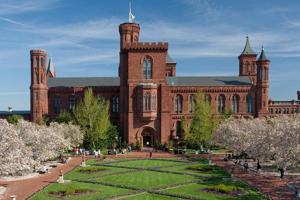 The Smithsonian Institution building (The Castle) and Enid A. Haupt garden
