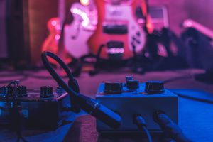 Close-Up Of Guitar Amplifier