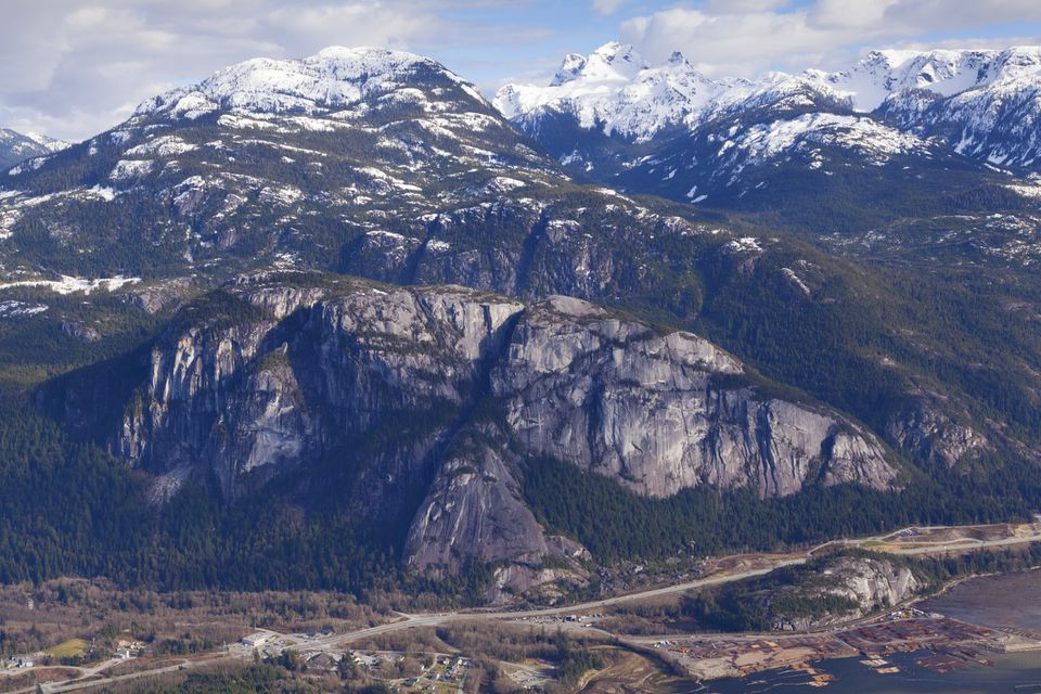 Stawamus Chief rock face in BC
