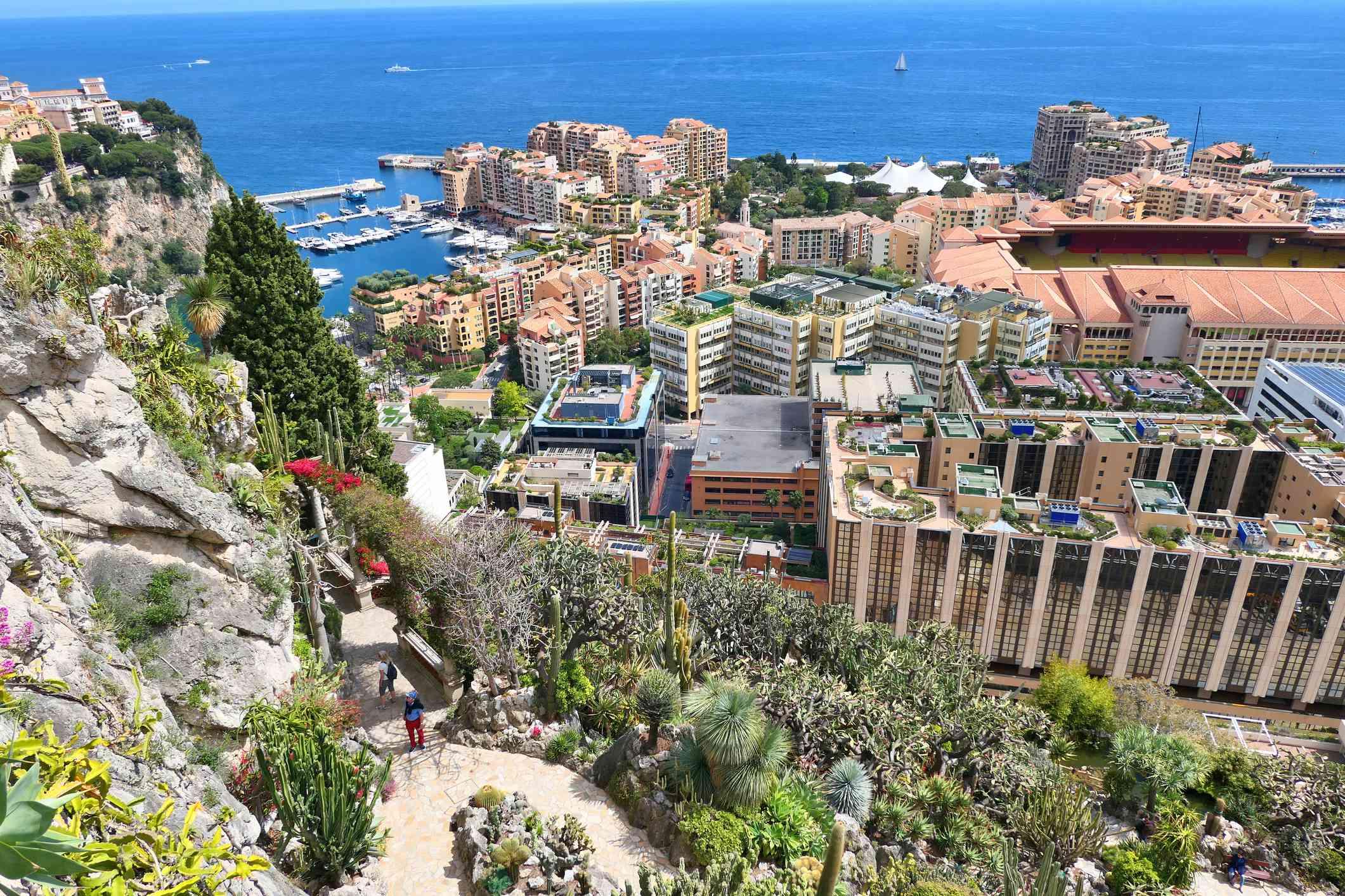 Exotic garden in Monaco.