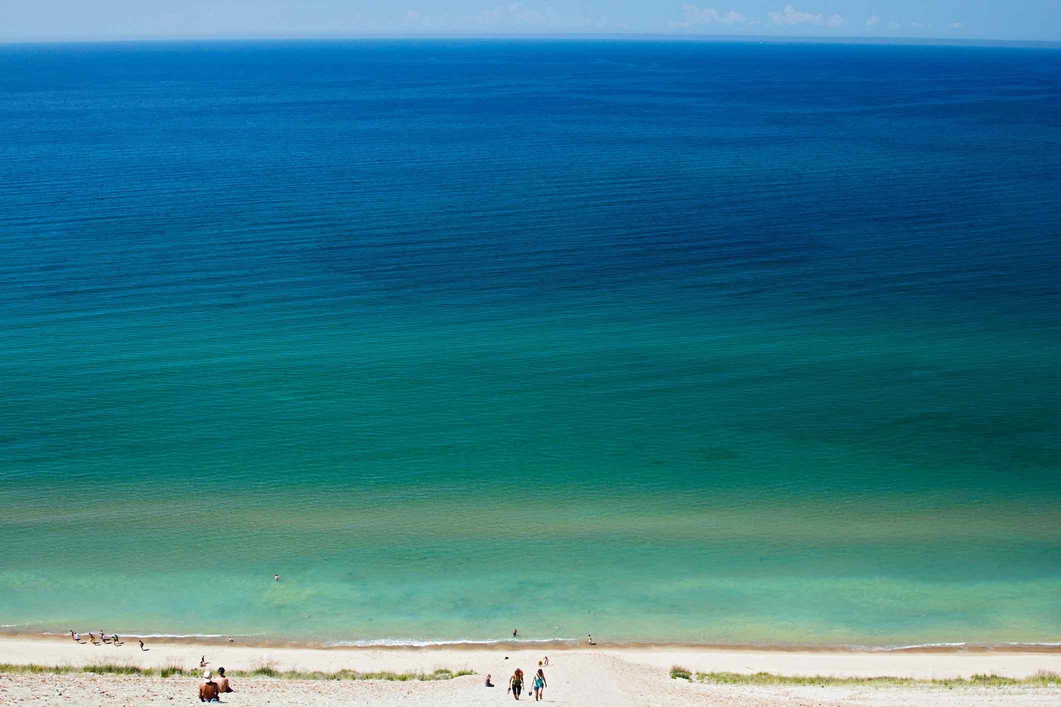 Lake Michigan Dune Climb