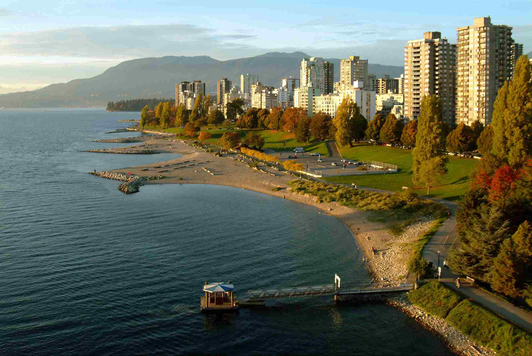 Sunset Beach, Vancouver in BC
