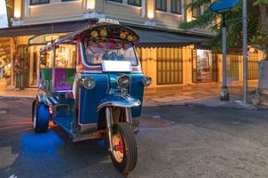 A parked tuk-tuk in Thailand