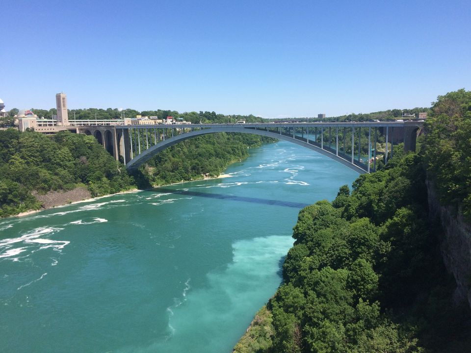 Rainbow Bridge Over Niagara River