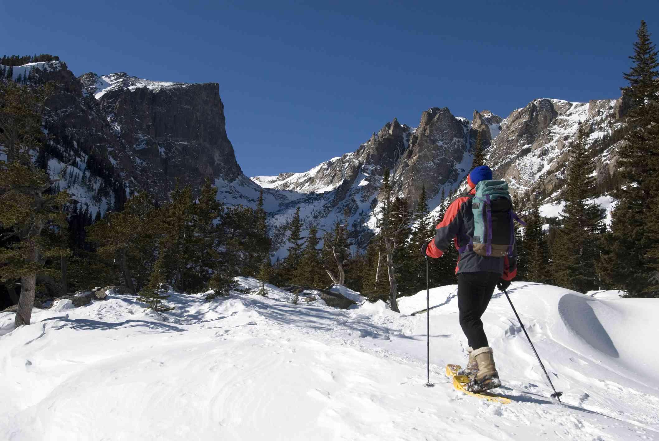 Snowshoeing in Estes Park, Colorado