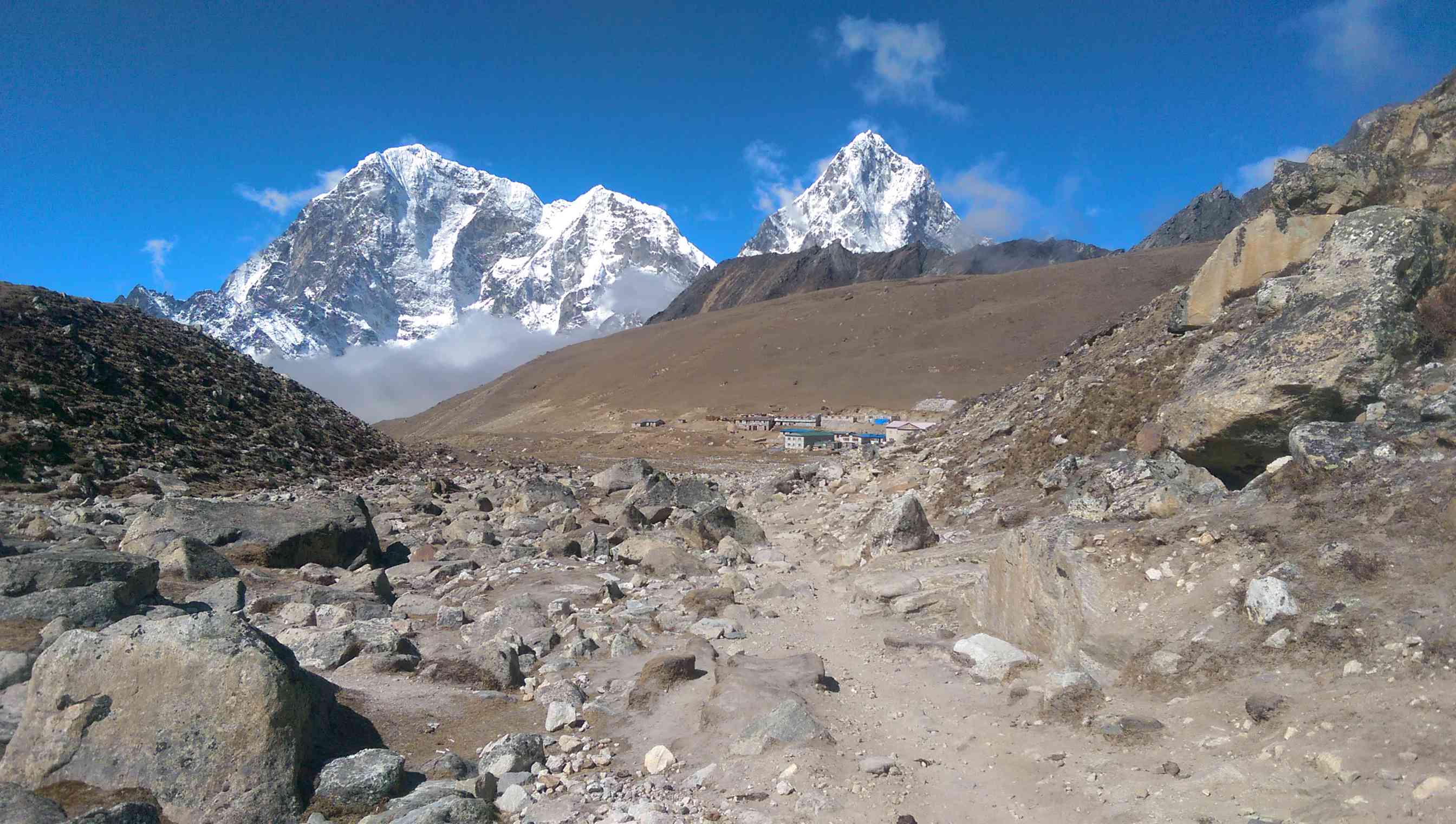 A distant village on the trail to Everest Base Camp