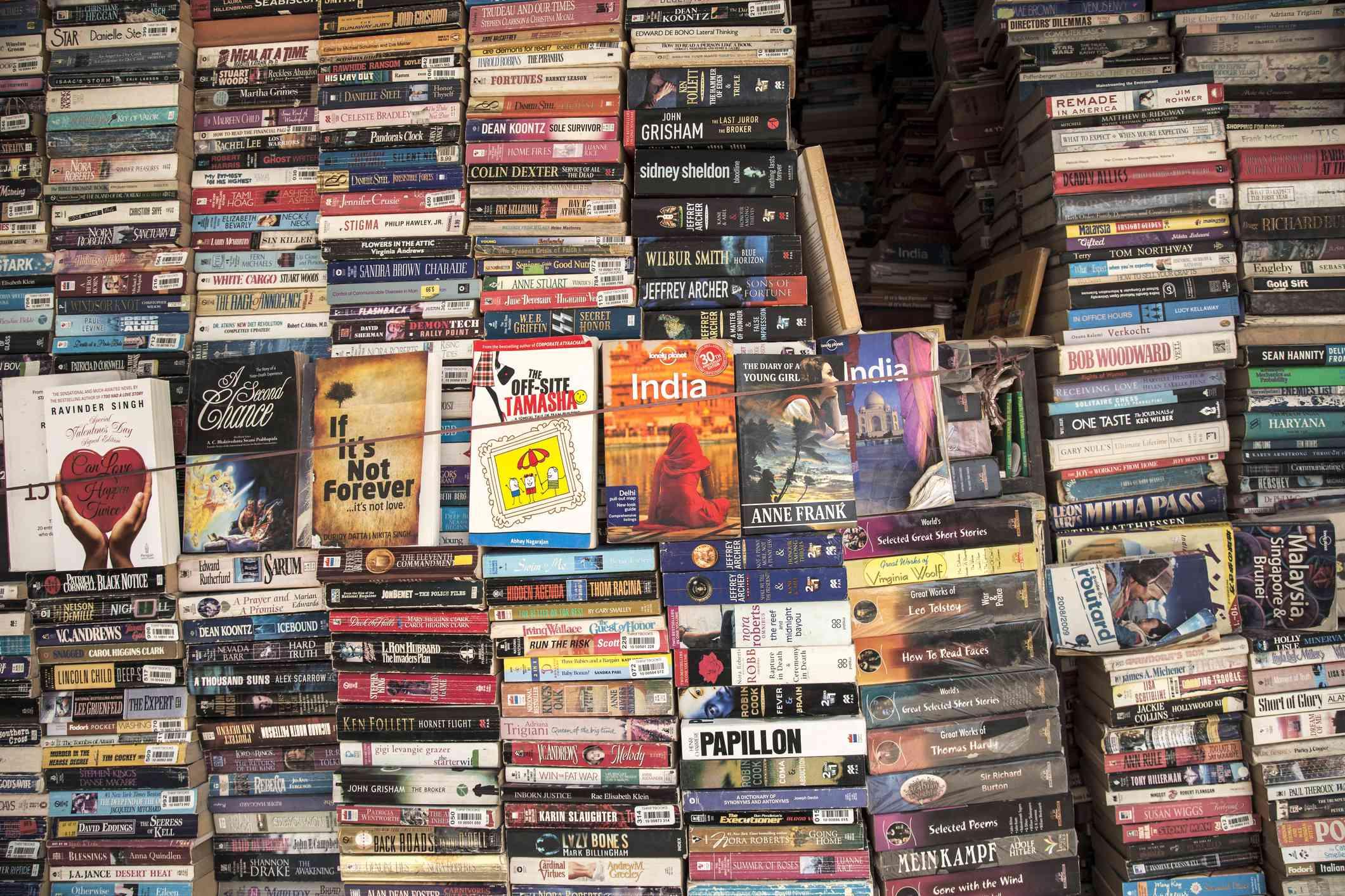 Second-hand books in Delhi.
