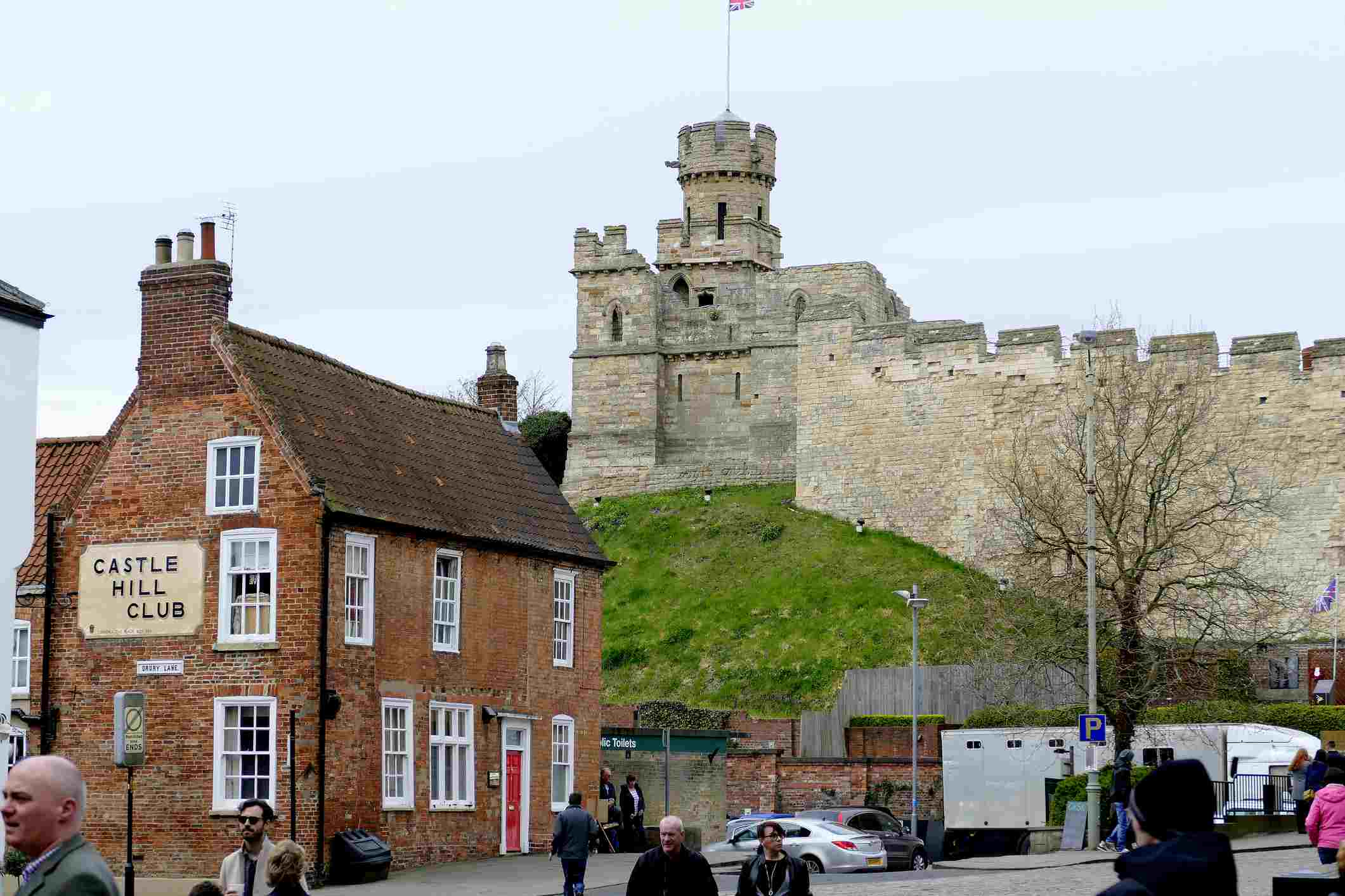 Lincoln Castle from Castle Hill