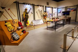 wildfire exhibit at the Hall of Flame firefighting museum