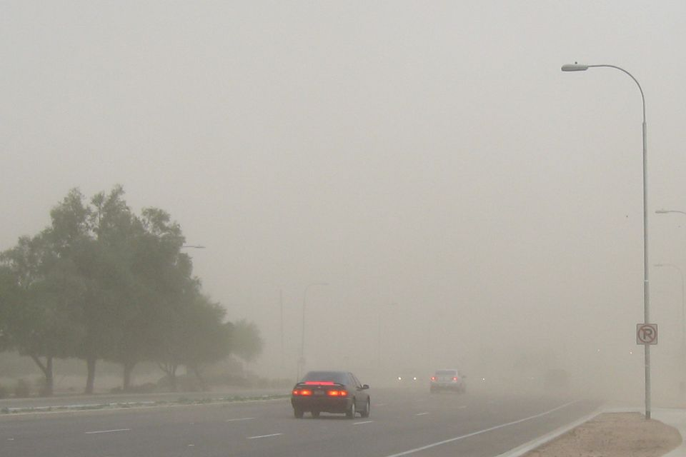 Driving During Monsoon Dust Storm