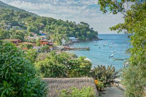 Yelapa Dock and Mountain Scenery
