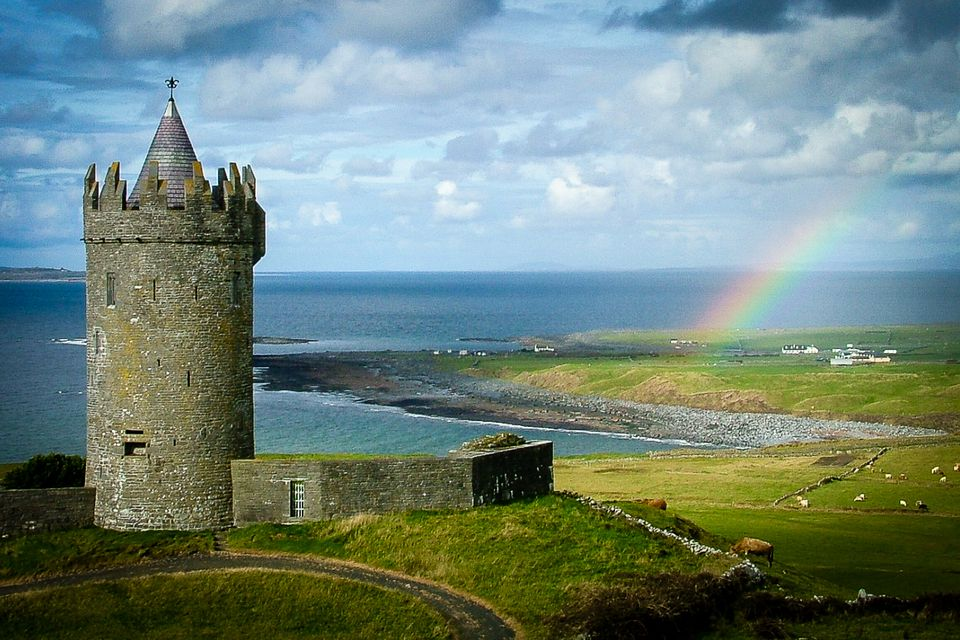 Doonagore Castle near Doolin, one of Munster's many iconic sights (rainbow optional)