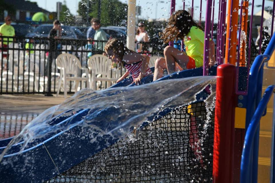 Kids enjoying the Westwood Water Park