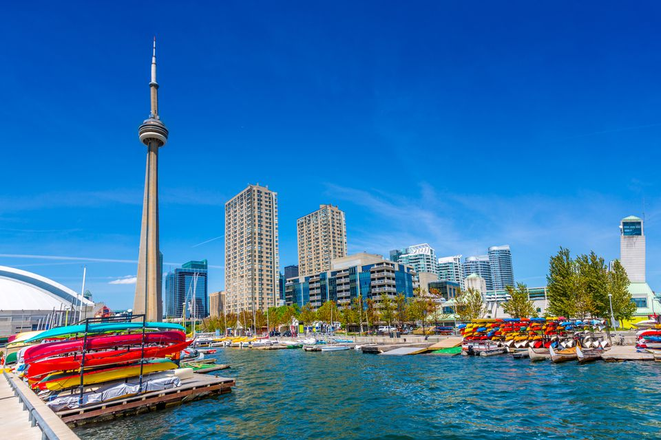 Toronto Harbor in a Summer Day