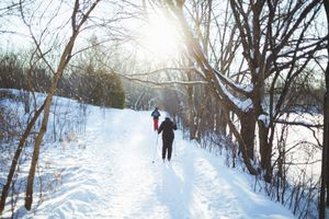 people cross country skiing in montreal