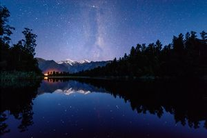 Matheson Lake with milky way