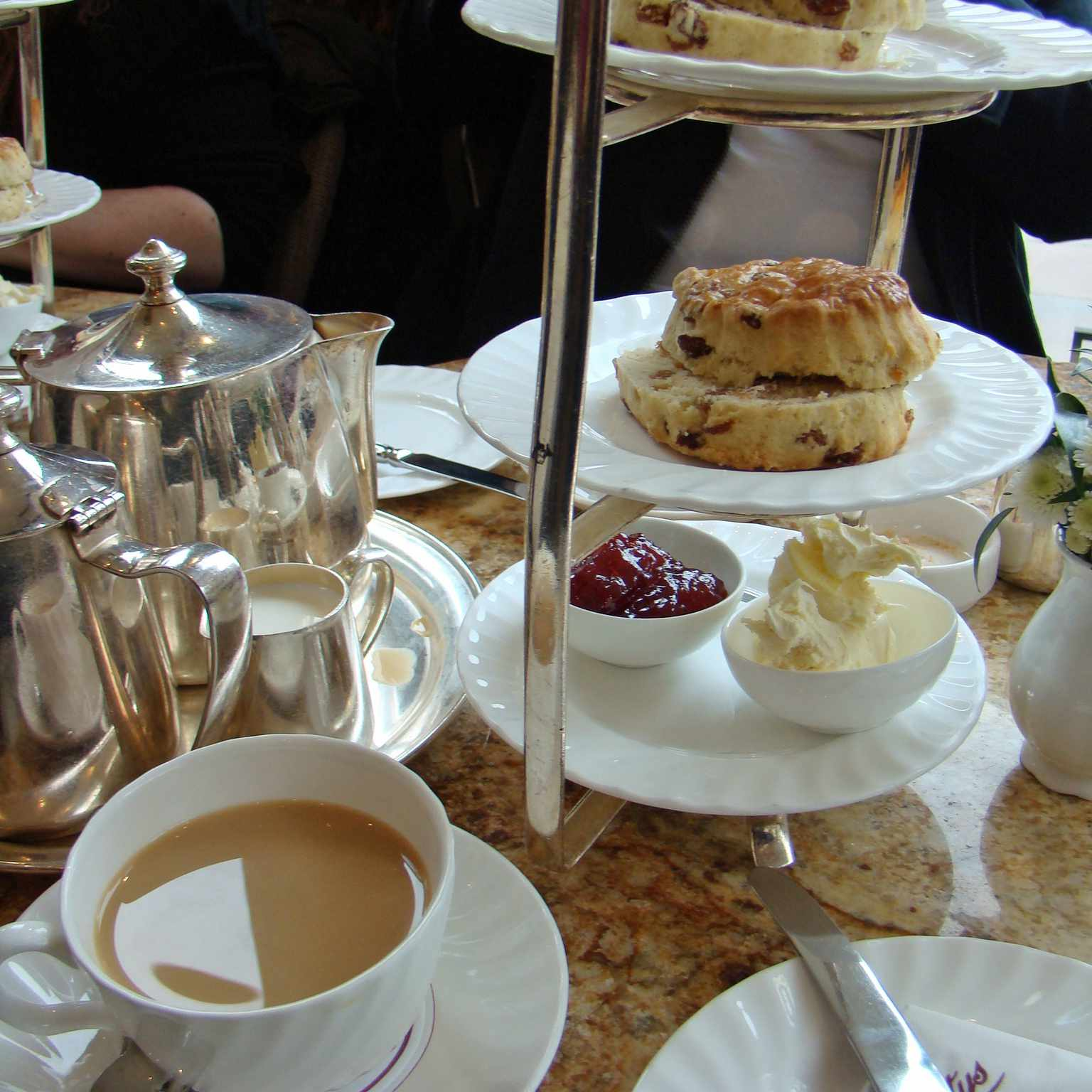 Afternoon tea is served throughout London and the United Kingdom.