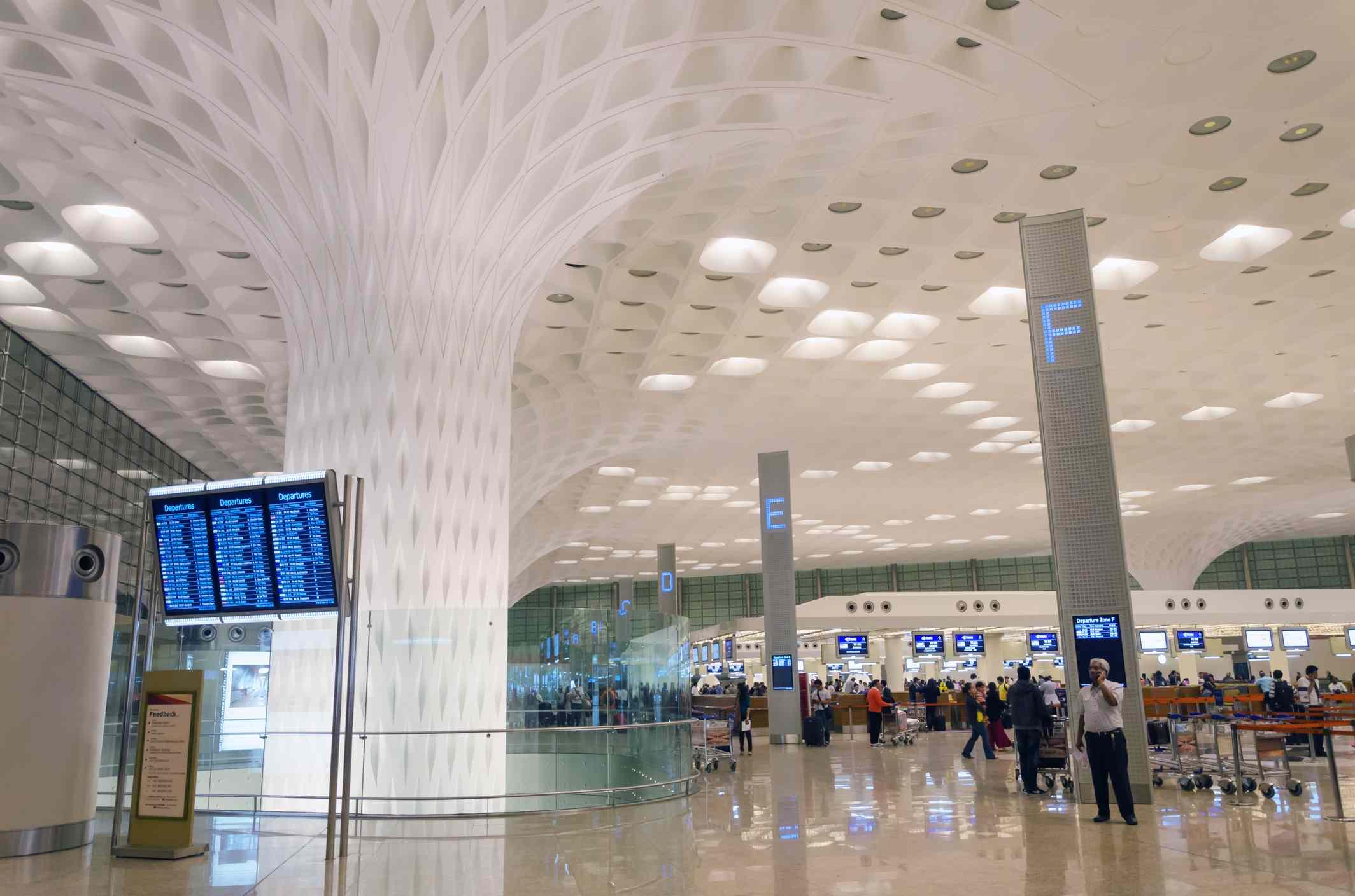 Mumbai airport.