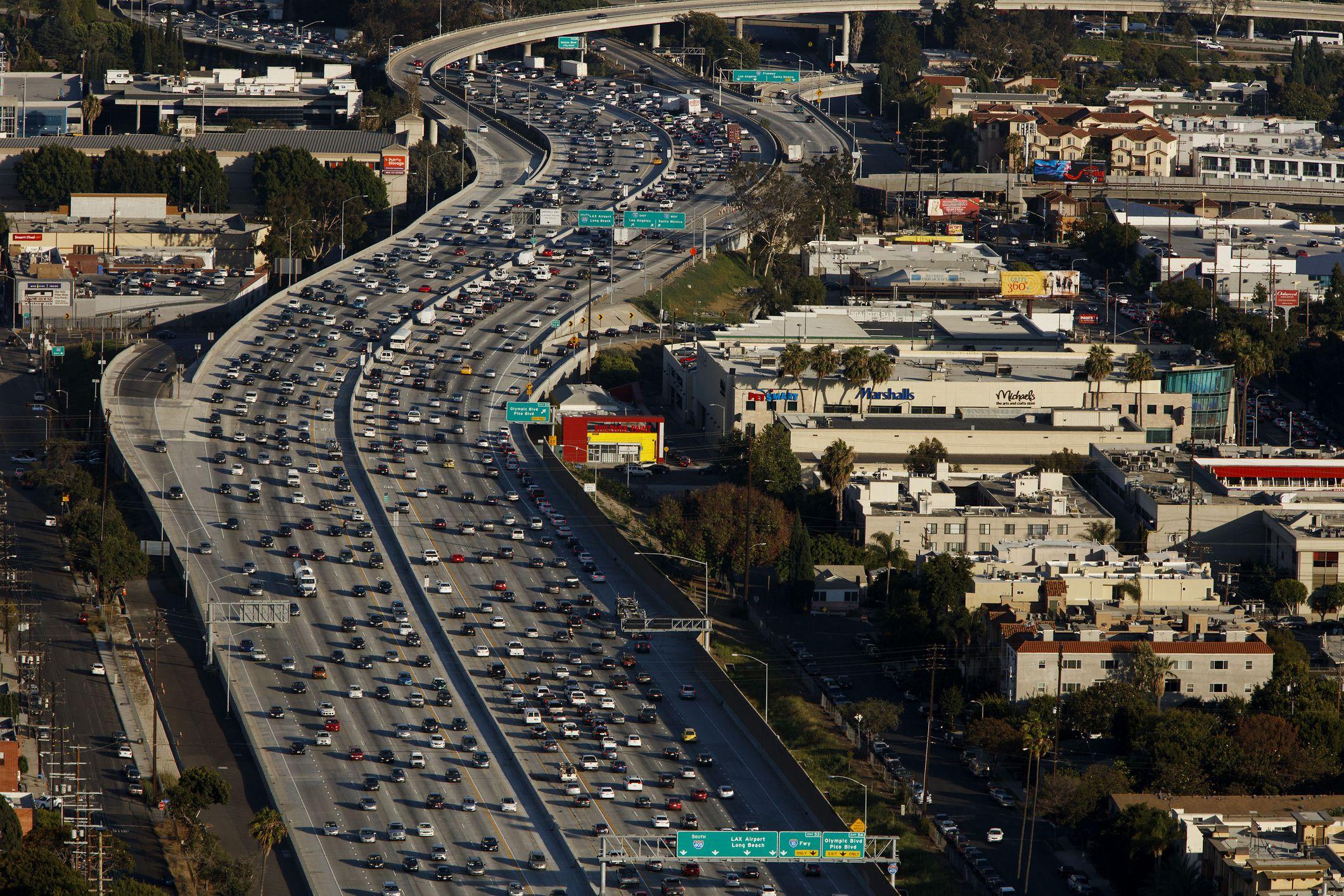 Tráfico de los Ángeles en la 405