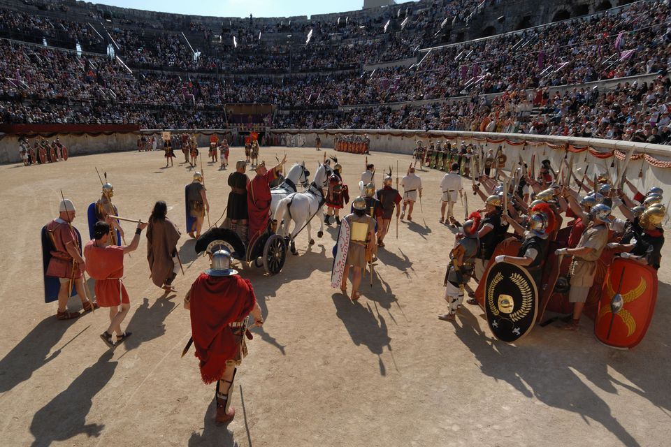 The Triumphal Entry of the Emperor in the Nimes Arena