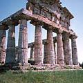 picture of temple of ceres, greek temples at paestum, southern italy picture
