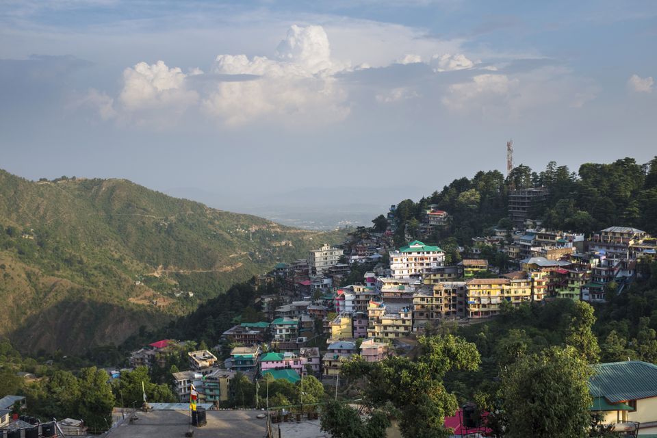 McLeod Ganj perched on a hillside